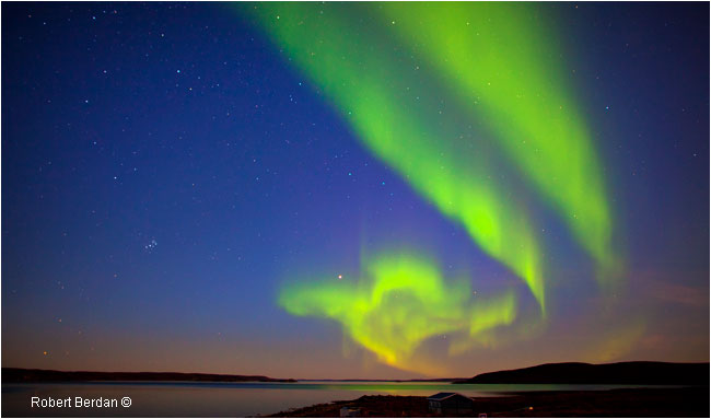 Aurora over Point Lake NWT by Robert Berdan ©