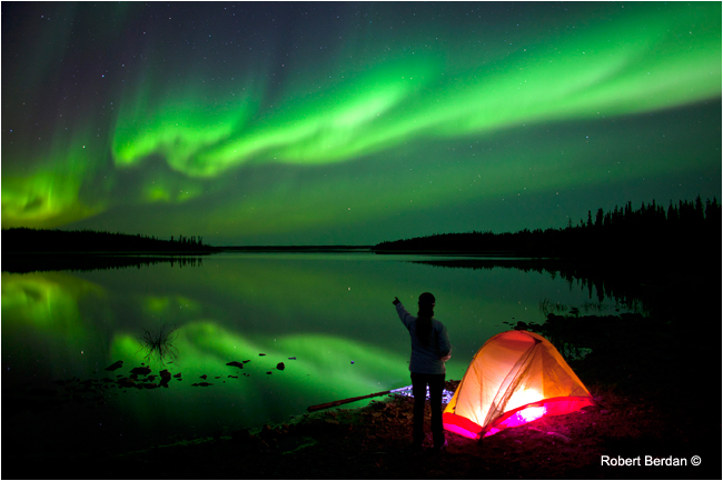 Aurora borealis, Yellowinife, NWT by Robert Berdan ©