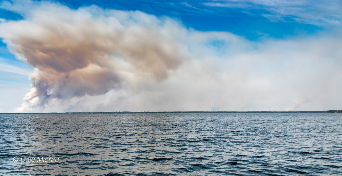 A wall of fire to the south, west and north of La Ronge by Dale Meirau ©