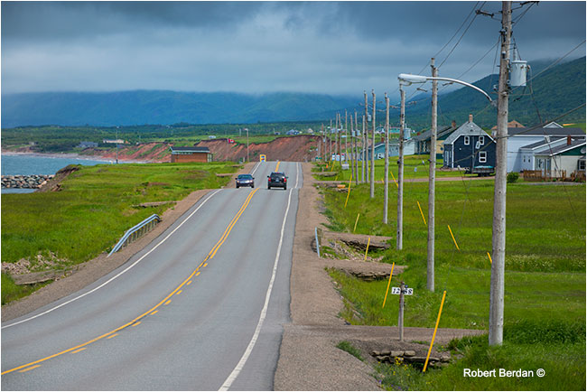 Highway 19 outside of Cheticamp, Cape Breton by Robert Berdan ©