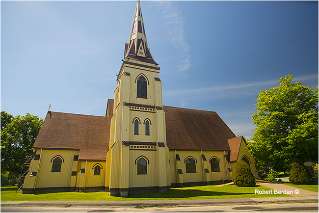 One of the large churches in Mahone Bay, Nova Scotia by Robert Berdan ©