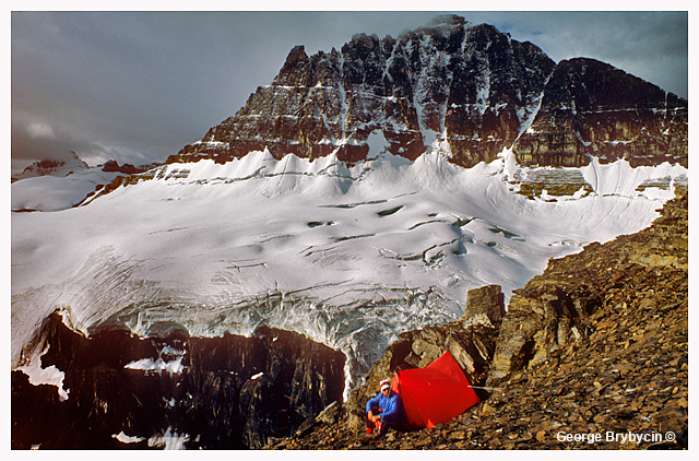 George Brybycin and ten at base of Mt. Sarbuch