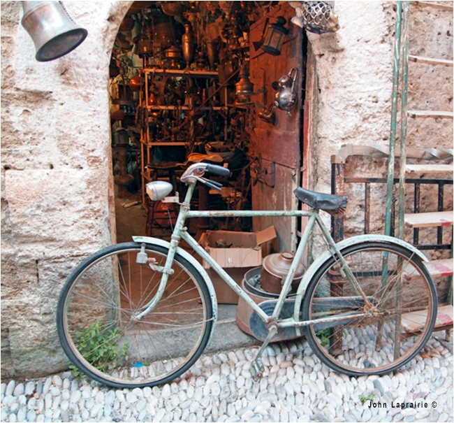 A workshop door in old town Rhodes by John Lapririe ©
