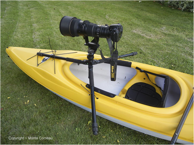 Camera mounted on kayak by Monte Comeau ©