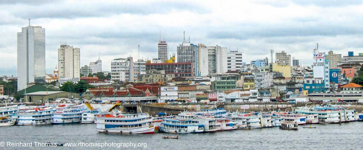 River boats in Manaus by Reinhard Thomas ©