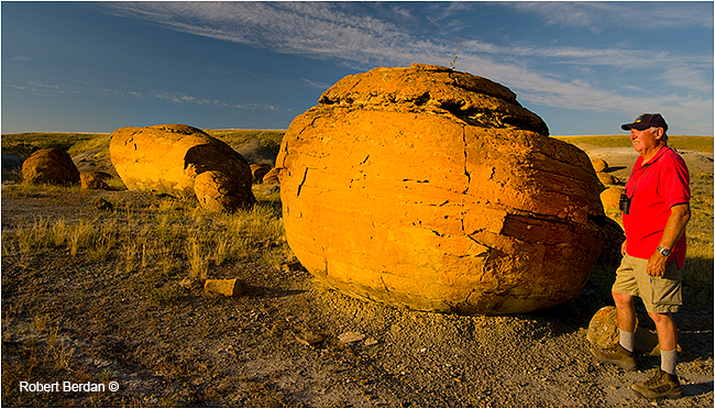 Concretions in Red Rock Coulee by Robert Berdan