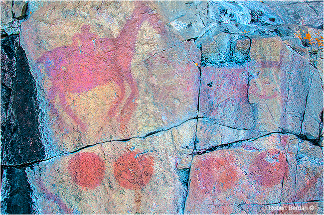Agawa Rock painting by Robert Berdan ©
