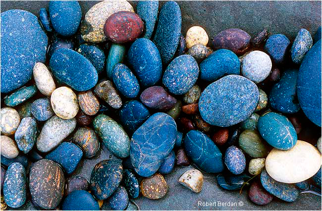 Smooth stones along beach by Robert Berdan ©
