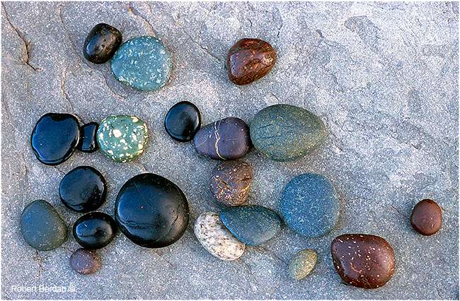 Smooth stones, Nootka beach by Robert Berdan ©