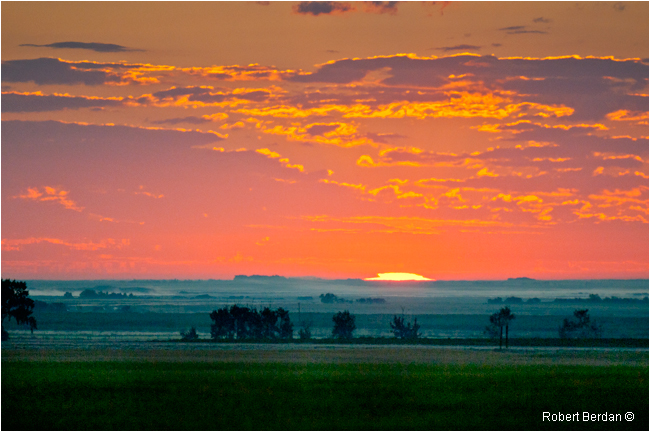 sunrise over the prairie by Robert Berdan ©