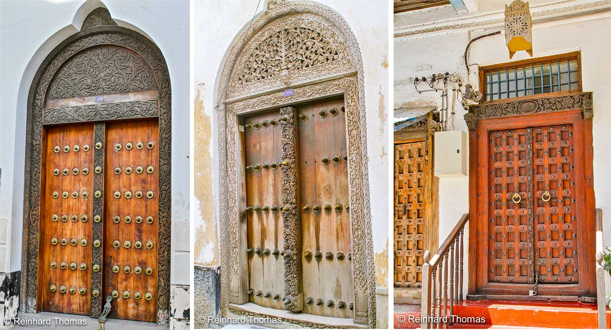 Wooden doors Zanzibar by  Reinhard Thomas ©
