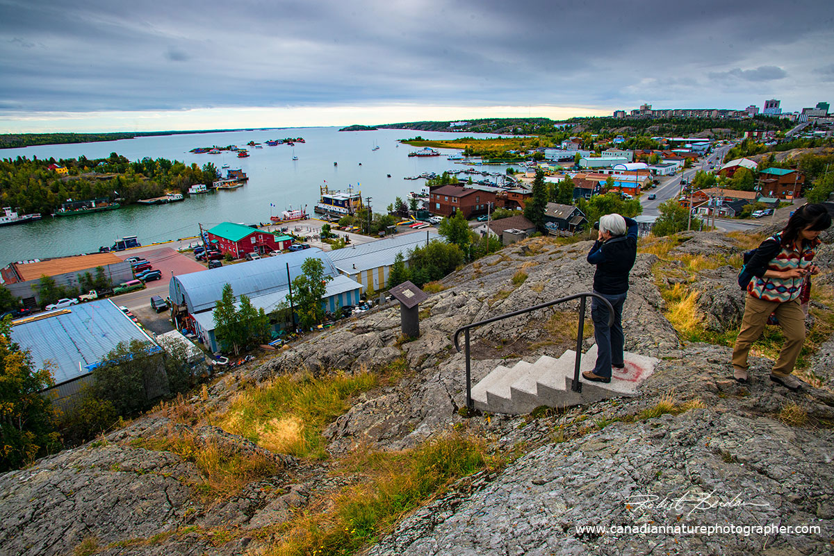 View from Pilot's monument overlooking Yellowknife Bay by Robert Berdan ©