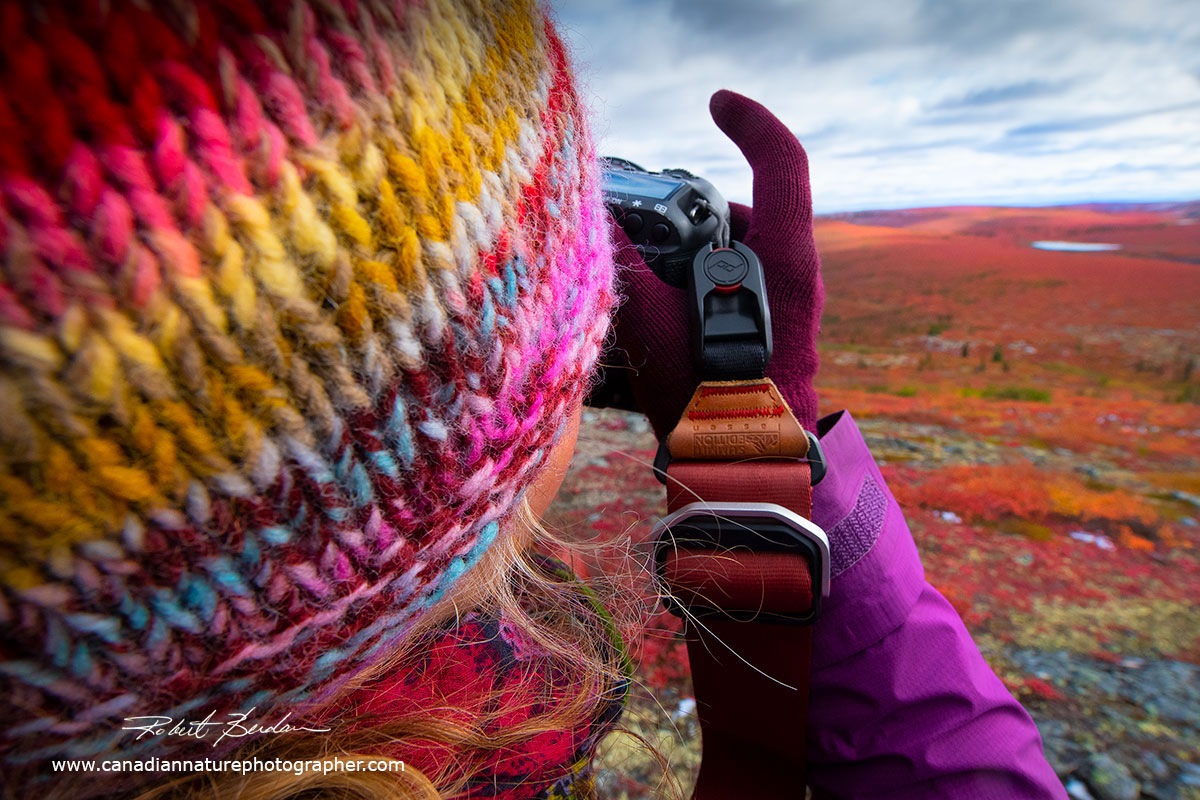 Photographer (Tawna Brown) view point of the tundra by Robert Berdan ©