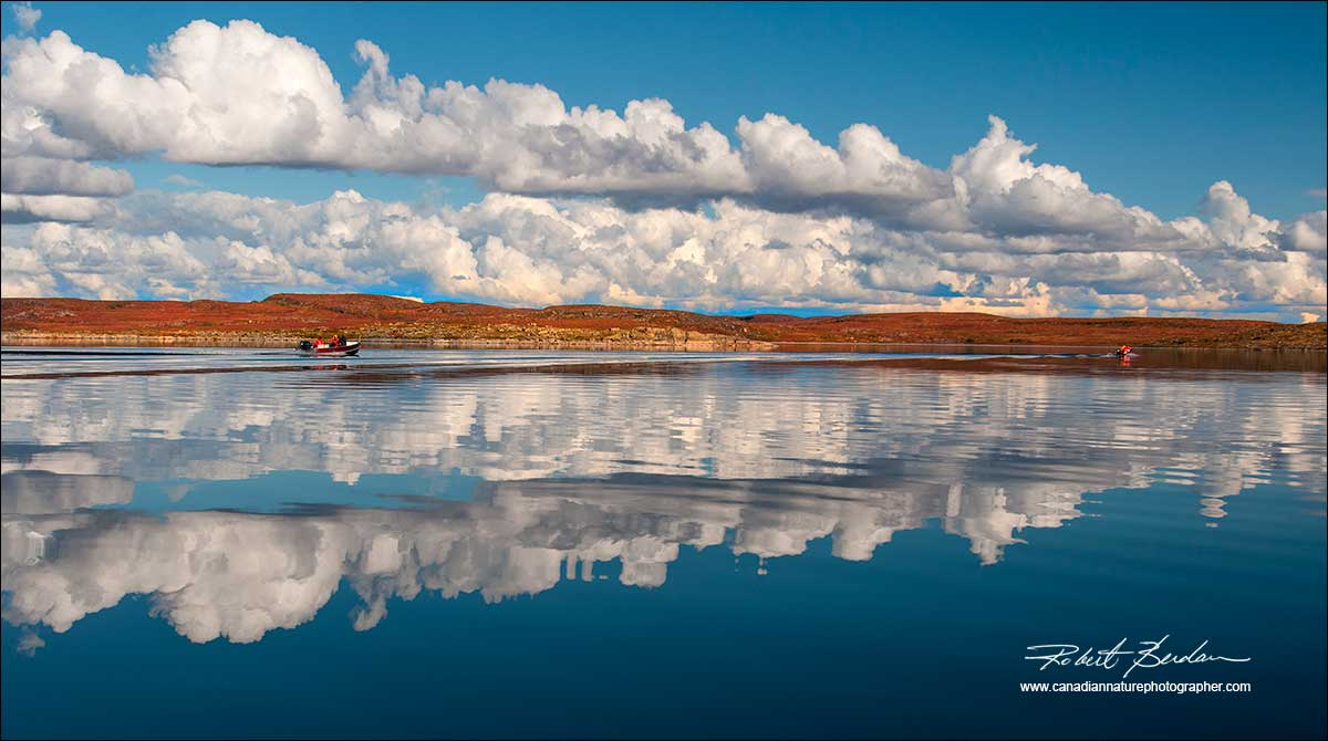 Point lake with cloud reflections North West Territories by Robert Berdan ©