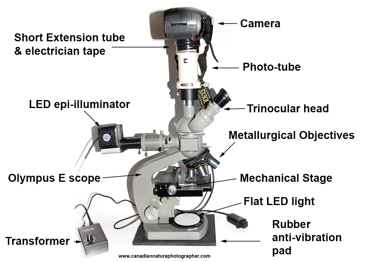 Metallurgical Microscope for viewing opaque specimens by Robert Berdan ©