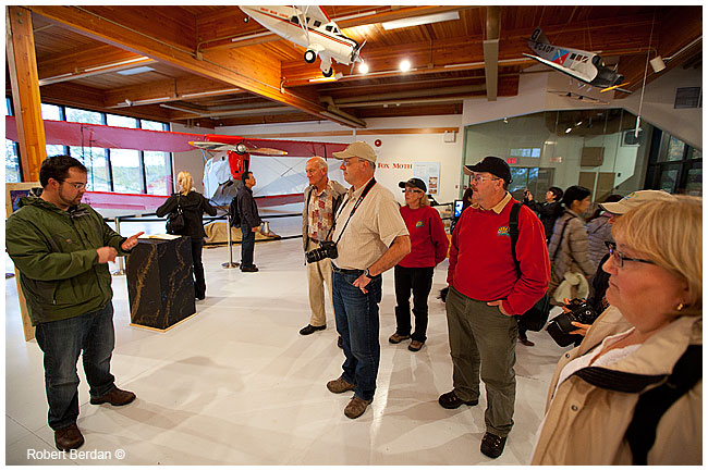 Group visiting the Aurora max exhibit in Yellowknife by Robert Berdan ©