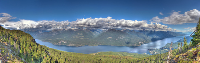 Kootenayt Lake from Mt. Buchanan by Chris Ratynski ©