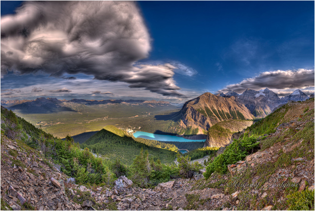 Fairmount Chateau Lake from Mt Saint Piran by Chris Ratynski ©