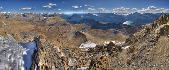 View from Cirque Peak in Banff National Park by Chris Ratynski ©