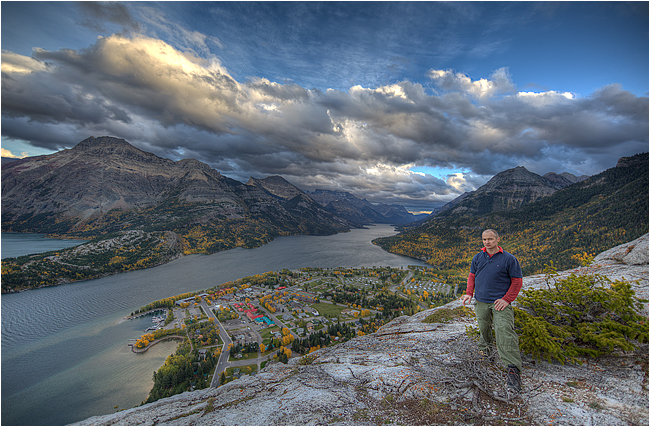 Chris Ratynski self portrait Waterton National Park Bears Hump ©