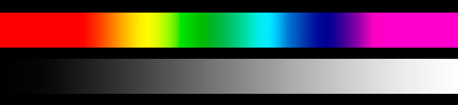 Gradients in black and white and rainbow colors by R. Berdan