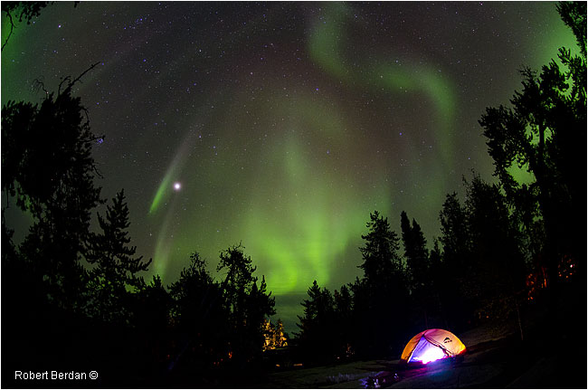 Tent at Prelude campground and Aurora by Robert Berdan ©