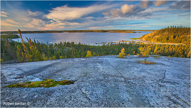 Overview of Prelude lake from rock face by Robert Berdan ©