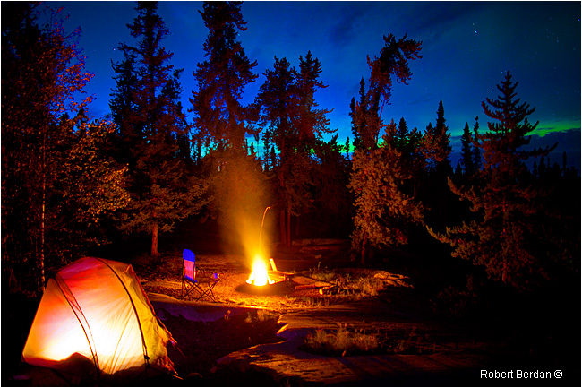 Campsite at Prelude Territorial Park offered ideal Aurora viewing by Robert Berdan ©