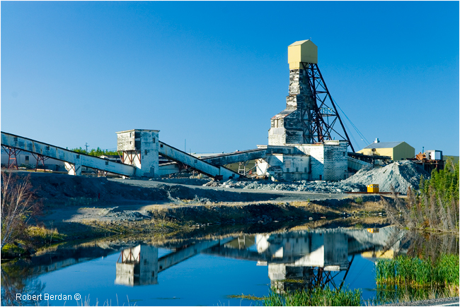 Giant Mine along the Ingraham trail, Yellowknife, NWT by Robert Berdan