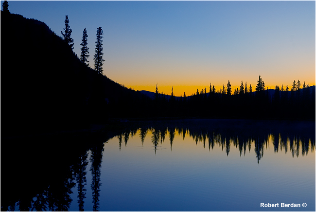 Sunrise at Forgetmenot pond in Kananaskis by Robert Berdan ©