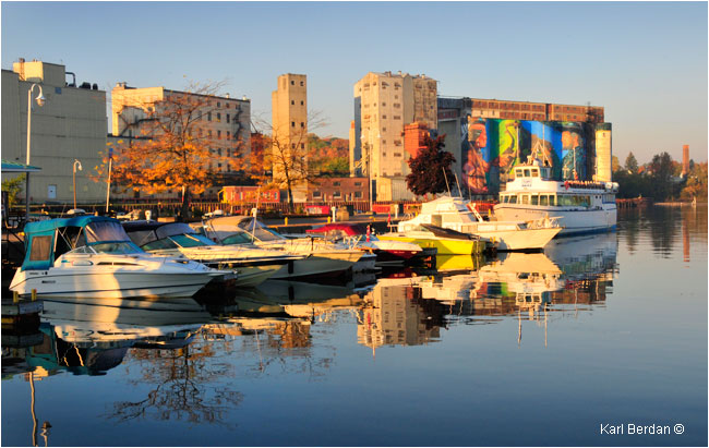 Midland town dock early morning by Karl Berdan ©