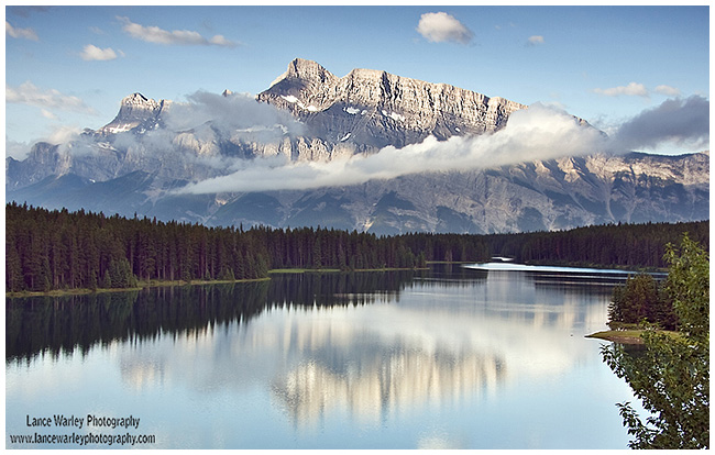 Two Jack lake and Mt Rundle by Lance Warley ©