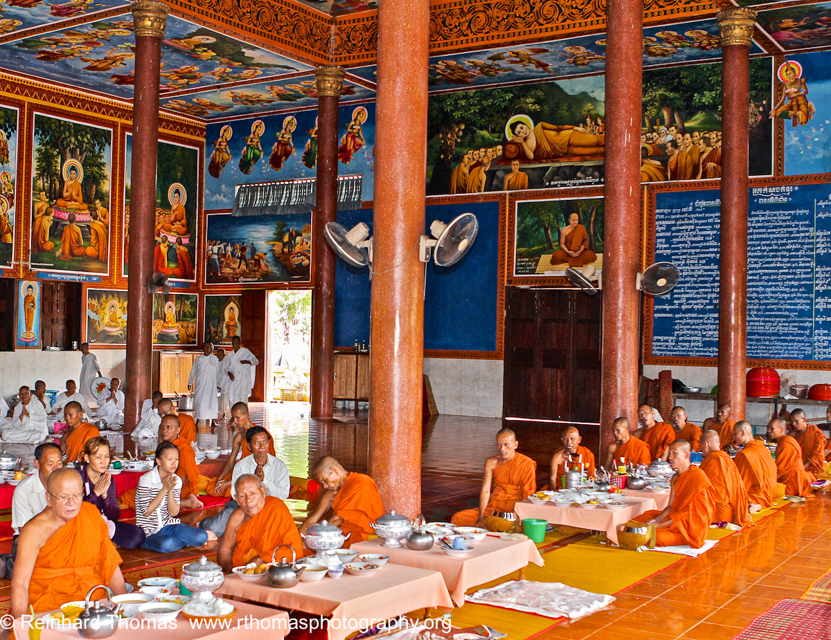 Buddhist Monastery dining room Cambodia by Reinhard Thomas ©