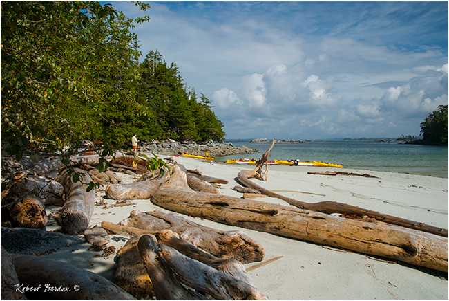 Beach on outer island on the West Coast of BC by Robert Berdan ©