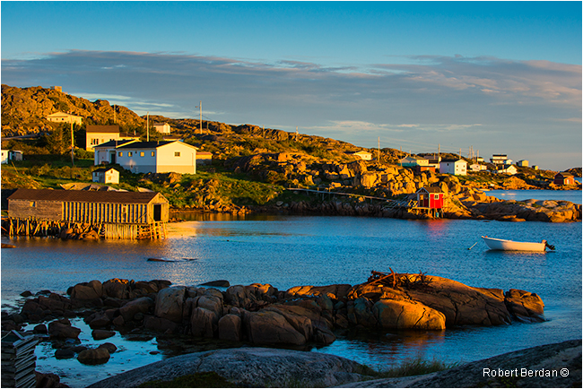 Deep Bay Fogo Island at sunrise by Robert Berdan ©