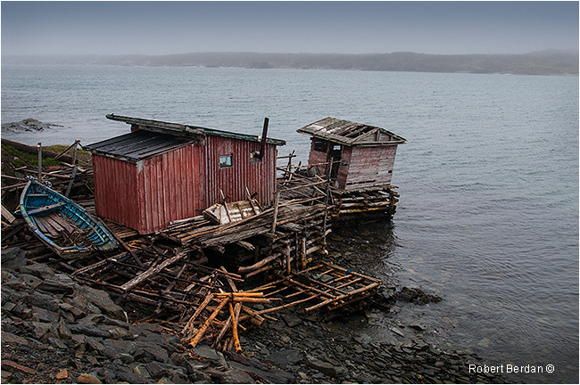 Fishermans hut Newfoundland by Robert Berdan ©