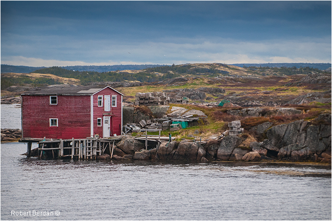 Dock and hut near Newtown Newfoundland by Robert Berdan ©
