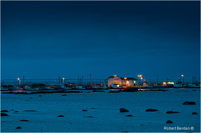 Musgrave Harbour Newfoundland at night by Robert Berdan ©