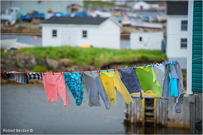 Clothes line Fogo, Newfoundland by Robert Berdan ©