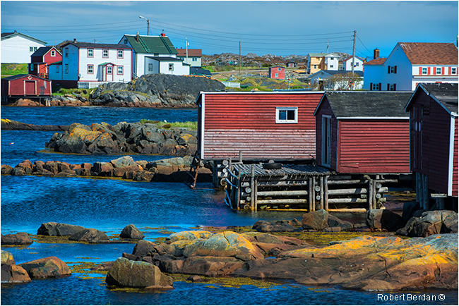 Waterfront Tilting Fogo Island by Robert Berdan ©