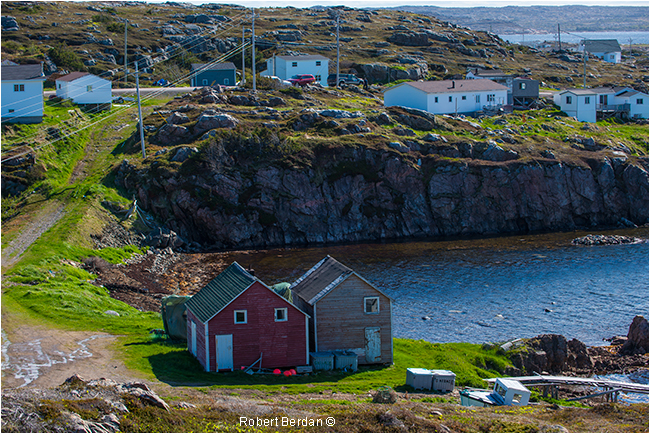 Fishing huts in Tilting Fogo Island Newfoundland by Robert Berdan ©