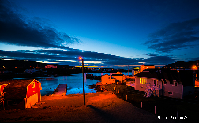 Fogo harbour at night by Robert Berdan ©