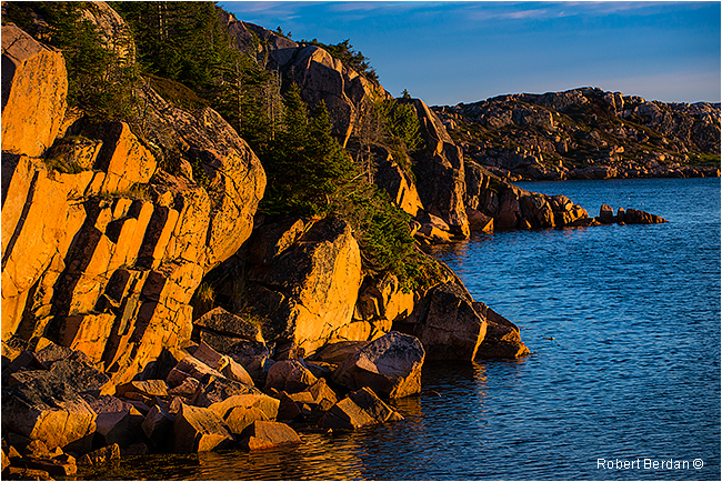 Rocks in Deep Bay Fogo Island at sunrise by Robert Berdan ©