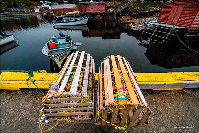Lobster traps New Bonaventure Newfoundland by Robert Berdan ©