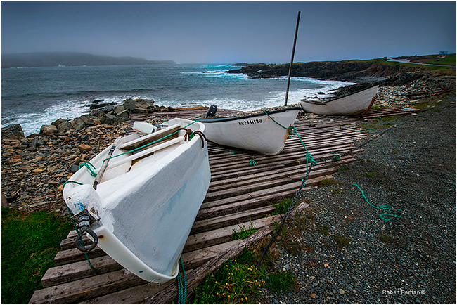Boats in Elliston by Robert Berdan ©