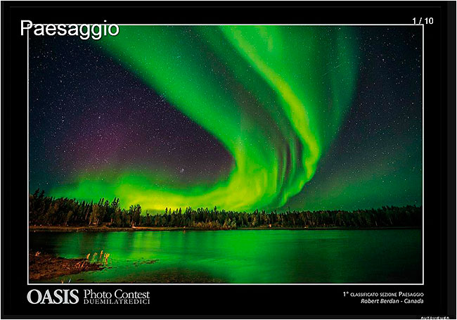 Aurora borealis, Aurora village Yellowknife 1st place in Oasis Landscape category