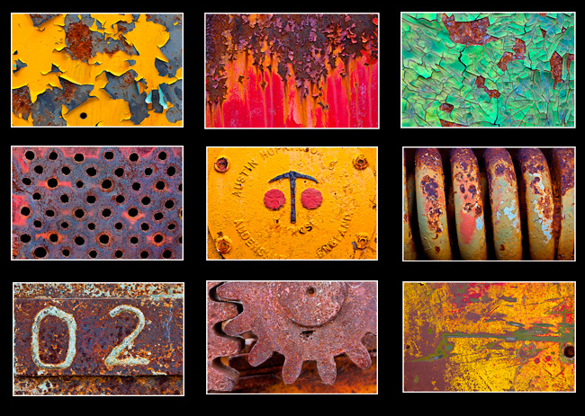 Metal textures from a old mining graveyard of machinery by Robert Berdan ©