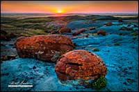 Red Rock coulee sourthern Alberta by Robert Berdan