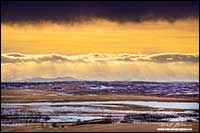 Foothills of the Rockies from north of Calgary by Robert Berdan