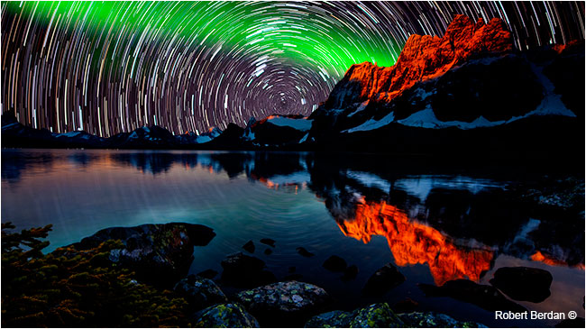 Star trails and aurora over Tonquin valley Robert Berdan ©